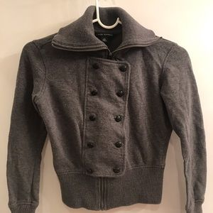 Banana Republic Grey Zip Up with Front Buttons XS